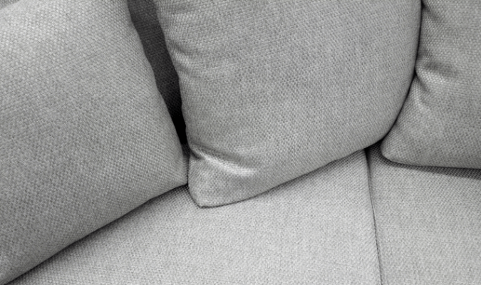 Stain-free grey fabric sofa