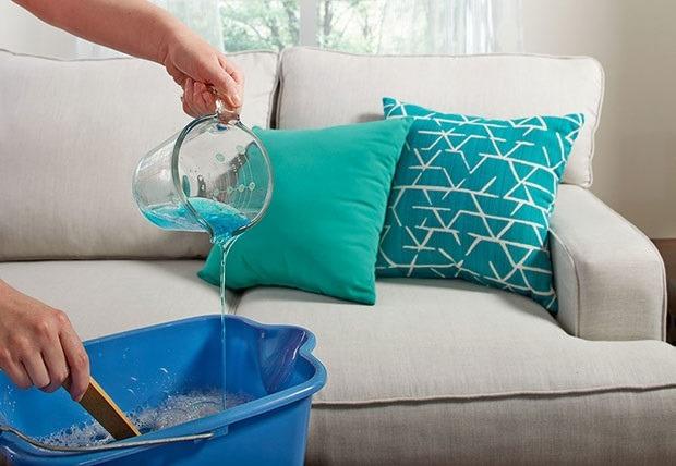 شستن مبل با شامپو فرش 2
