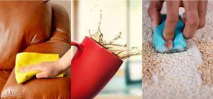 پاک کردن لکه چای