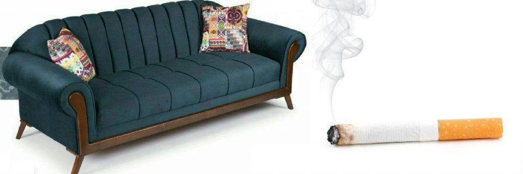 از بین بردن سوختگی سیگار روی مبل