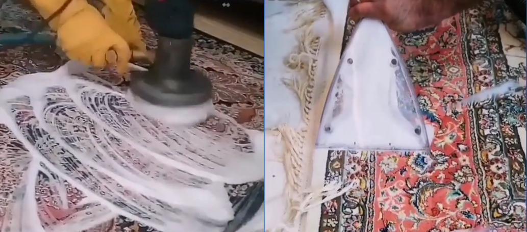 قالیشویی در منزل اهواز