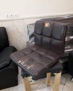 تعویض روکش صندلی چرم به پارچه 6